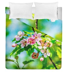 Crab Apple Flowers Duvet Cover Double Side (queen Size) by FunnyCow