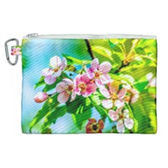 Crab Apple Flowers Canvas Cosmetic Bag (xl)