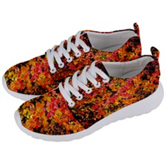Orange, Yellow Cotoneaster Leaves In Autumn Men s Lightweight Sports Shoes by FunnyCow