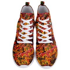 Orange, Yellow Cotoneaster Leaves In Autumn Men s Lightweight High Top Sneakers