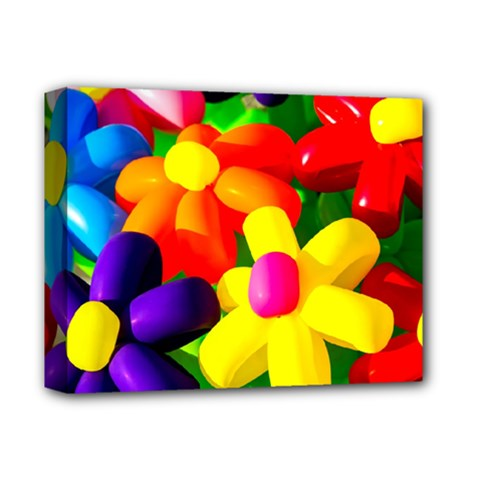 Toy Balloon Flowers Deluxe Canvas 14  X 11  by FunnyCow
