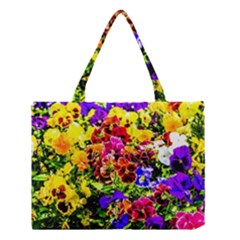 Viola Tricolor Flowers Medium Tote Bag by FunnyCow