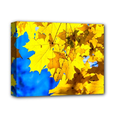 Yellow Maple Leaves Deluxe Canvas 14  X 11  by FunnyCow
