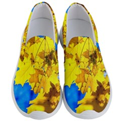 Yellow Maple Leaves Men s Lightweight Slip Ons by FunnyCow