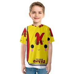 Kawaii Cute Tennants Lager Can Kids  Sport Mesh Tee