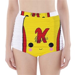 Kawaii Cute Tennants Lager Can High Waisted Bikini Bottoms