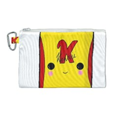 Kawaii Cute Tennants Lager Can Canvas Cosmetic Bag (large) by CuteKawaii1982