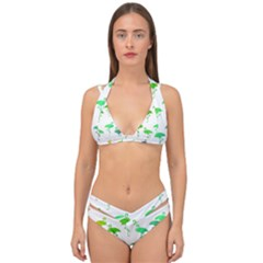 Rainbow Flamingos Pattern Double Strap Halter Bikini Set by CrypticFragmentsColors