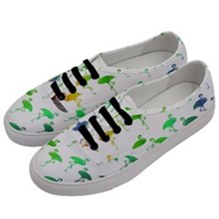Rainbow Flamingos Pattern Men s Classic Low Top Sneakers by CrypticFragmentsColors