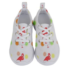 Flamingo Tropical Fruit Pattern Running Shoes by CrypticFragmentsColors