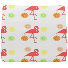 Flamingo Tropical Fruit Pattern Seat Cushion by CrypticFragmentsColors