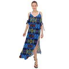 E 3 Maxi Chiffon Cover Up Dress