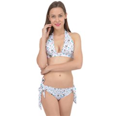 Unicorn, Pegasus And Hearts Tie It Up Bikini Set