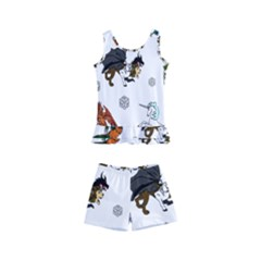 Dundgeon And Dragons Dice And Creatures Kid s Boyleg Swimsuit