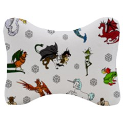Dundgeon And Dragons Dice And Creatures Velour Seat Head Rest Cushion