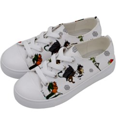 Dundgeon And Dragons Dice And Creatures Kids  Low Top Canvas Sneakers by IIPhotographyAndDesigns