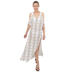 Dakind Signing Puppets Maxi Chiffon Cover Up Dress
