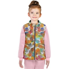 Colorful Paint Brushes On A White Background                                  Kid s Puffer Vest