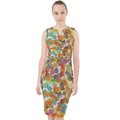 Colorful Paint Brushes On A White Background                                          Midi Bodycon Dress