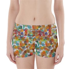 Colorful Paint Brushes On A White Background                                         Boyleg Bikini Wrap Bottoms by LalyLauraFLM