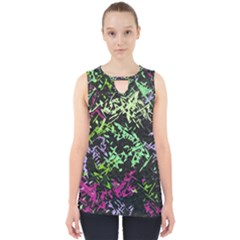 Misc Shapes On A Black Background                                         Cut Out Tank Top by LalyLauraFLM