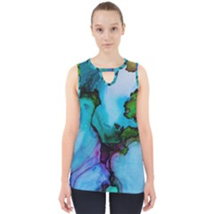 Blue Green Ink                                          Cut Out Tank Top by LalyLauraFLM