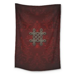Decorative Celtic Knot On Dark Vintage Background Large Tapestry