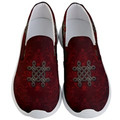 Decorative Celtic Knot On Dark Vintage Background Men s Lightweight Slip Ons