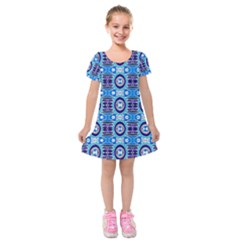 E 6 Kids  Short Sleeve Velvet Dress