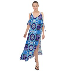 E 6 Maxi Chiffon Cover Up Dress by ArtworkByPatrick1