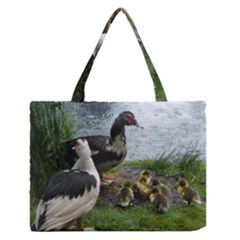 Muscovy Family Zipper Medium Tote Bag by IIPhotographyAndDesigns