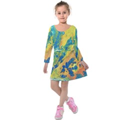 Sunfire Kids  Long Sleeve Velvet Dress
