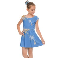 Floating Wishes Kids Cap Sleeve Dress