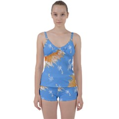 Floating Wishes Tie Front Two Piece Tankini
