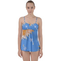 Floating Wishes Babydoll Tankini Set