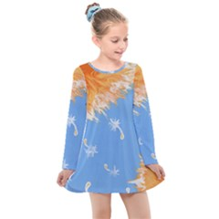 Floating Wishes Kids  Long Sleeve Dress
