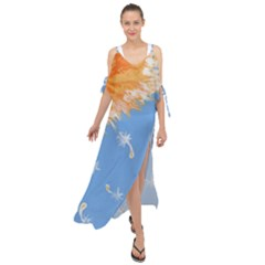 Floating Wishes Maxi Chiffon Cover Up Dress