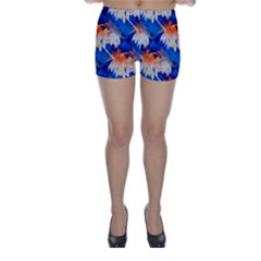 Palm Trees Tropical Beach Sunset Skinny Shorts