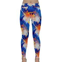 Palm Trees Tropical Beach Sunset Classic Yoga Leggings