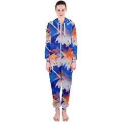 Palm Trees Tropical Beach Sunset Hooded Jumpsuit (ladies)