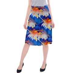 Palm Trees Tropical Beach Sunset Midi Beach Skirt