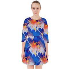 Palm Trees Tropical Beach Sunset Smock Dress