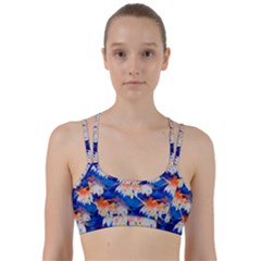 Palm Trees Tropical Beach Sunset Line Them Up Sports Bra by CrypticFragmentsColors