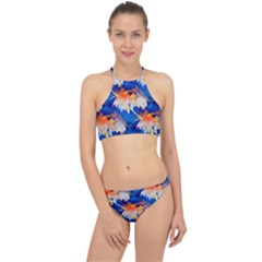 Palm Trees Tropical Beach Sunset Racer Front Bikini Set