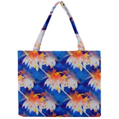 Palm Trees Tropical Beach Sunset Mini Tote Bag by CrypticFragmentsColors