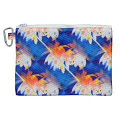Palm Trees Tropical Beach Sunset Canvas Cosmetic Bag (xl) by CrypticFragmentsColors