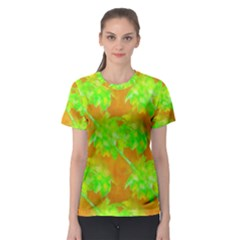 Coconut Palm Trees Caribbean Vibe Women s Sport Mesh Tee