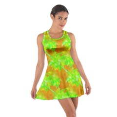 Coconut Palm Trees Caribbean Vibe Cotton Racerback Dress