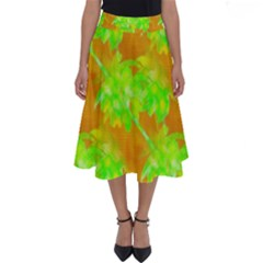 Coconut Palm Trees Caribbean Vibe Perfect Length Midi Skirt by CrypticFragmentsColors