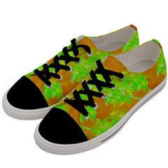 Coconut Palm Trees Caribbean Vibe Men s Low Top Canvas Sneakers by CrypticFragmentsColors